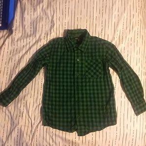 S GAP Boys Light Flannel w/ collar shirt
